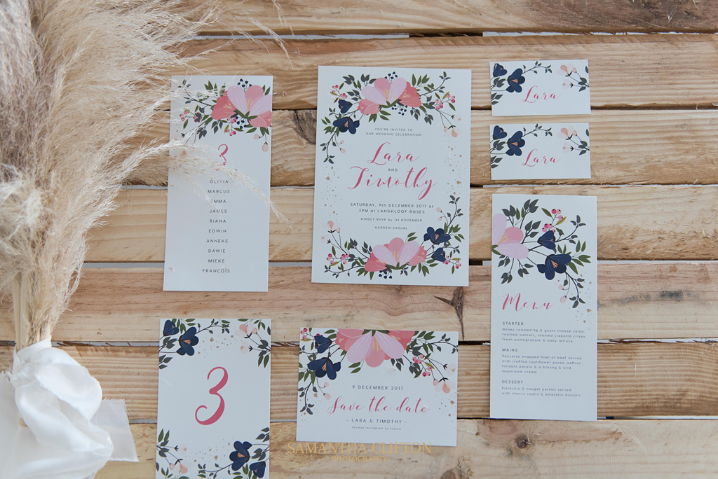 The Boho wedding trend with bold floral detailing inspired by an open field and outdoor receptions.