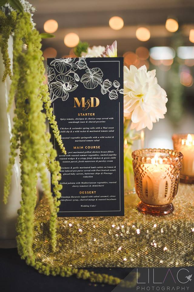 Gold, Navy, White Landtscap wedding, Stellenbosch, Western Cape